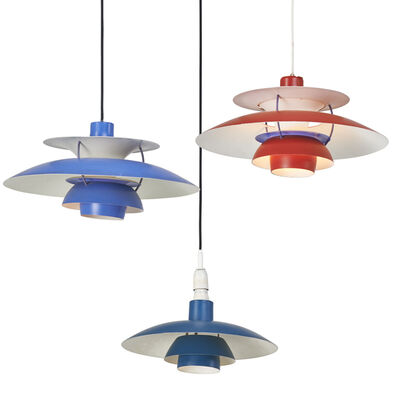 Poul Henningsen, 'Three pendant lamps: two PH5 and one PH3', 1960s