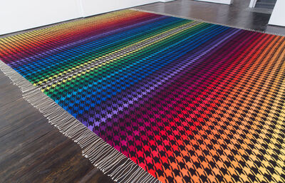 Polly Apfelbaum, 'Rainbow Nirvana Houndstooth', 2013