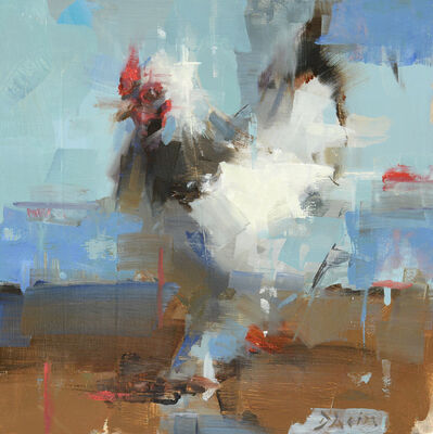 Jacob Dhein, 'Chicken Study with Blue', 2017
