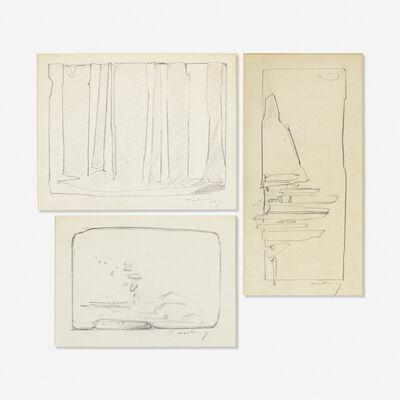 Robert Mallary, 'Study for Sculpture (three drawings)', c. 1959