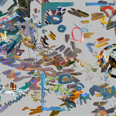Petra Cortright, 'guttermouth bed comforters rampey', 2019