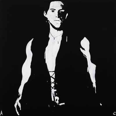 Adam Cullen, 'Gene Spliced Portrait - Trans-Substantial Image of Bon Scott and Adam Cullen', 2008