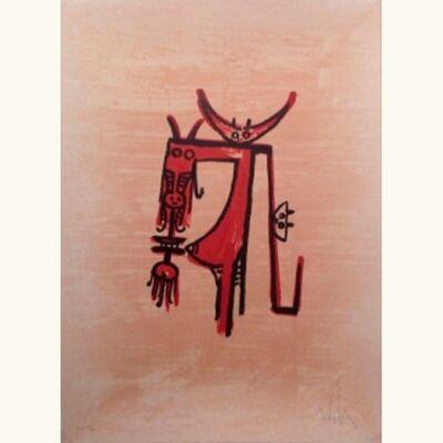 """Wifredo Lam, ' """"El ultimo viaje del buque fantasma"""" ', 1976"""