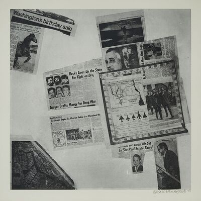 Robert Rauschenberg, 'Features From Currents (From Currents, #57)', 1970