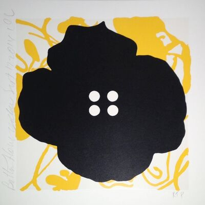 Donald Sultan, 'Button Flower, Yellow, Sept. 17, 2014', 2014
