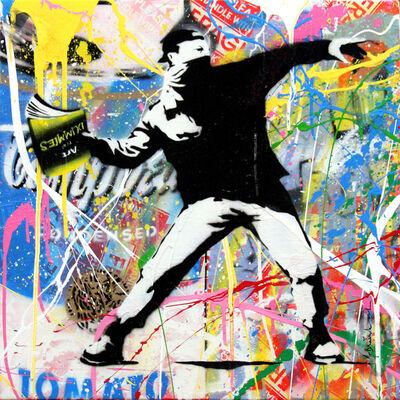 Mr. Brainwash, 'Banksy Thrower (9)', 2015