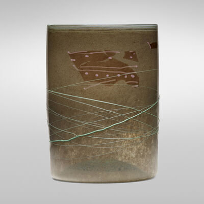 Dale Chihuly, 'Early Taupe Blanket Cylinder and Green Wrap', 1978