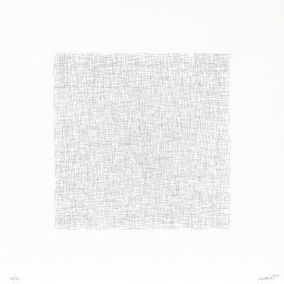 Sol LeWitt, 'Lines Of One Inch In Four Directions And Combinations (Krakow 1971.16)', 1971