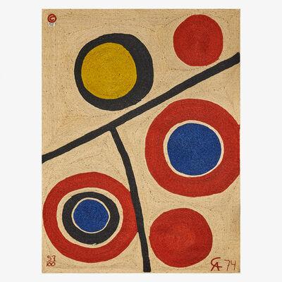 After Alexander Calder, 'Wall-hanging tapestry, Floating Circles, Guatemala', 1974