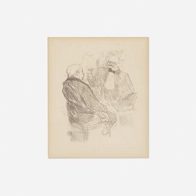 Henri de Toulouse-Lautrec, 'Georges Clemenceau et l'oculiste Mayer from Au Pied du Sinai', 1897/1898