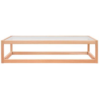 Peter Ghyczy, 'Peter Ghyczy Coffee Table Embassy Kirk 'T83' Oak Pure / Clear Glass', Contemporary