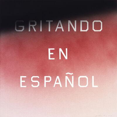 Ed Ruscha, 'Gritando En Español (#1)', 2014