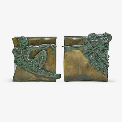 Philip Laverne, 'Pair of rare sculptural side tables after Michelangelo, Creation of Man, New York', 1960s