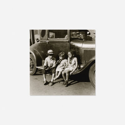 Nathan Bernard Lerner, 'Children and Car, Maxwell Street', 1936