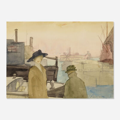 Stuart Davis, 'Evening on the Waterfront', 1913