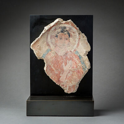 Unknown Asian, 'Fragment of a Fresco Depicting the Buddha', 200 AD to 400 AD