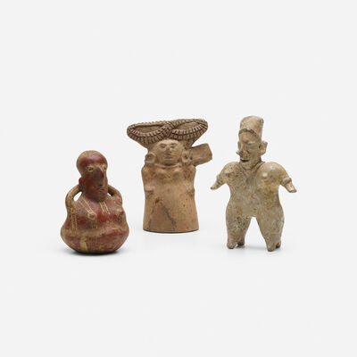Colima Culture, 'collection of three figures', c. 400 A.D.