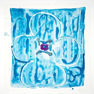 Judy Ledgerwood, 'Inner Vision: Blue + silver + Magenta', 2020