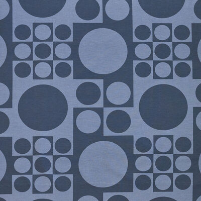 Verner Panton, 'Geometri upholstery fabric with repeating patterns of dark and light gray circles in squares', ca. 1960s