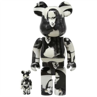 BE@RBRICK, 'ANDY WARHOL - MONA LISA 400% & 100%', 2019