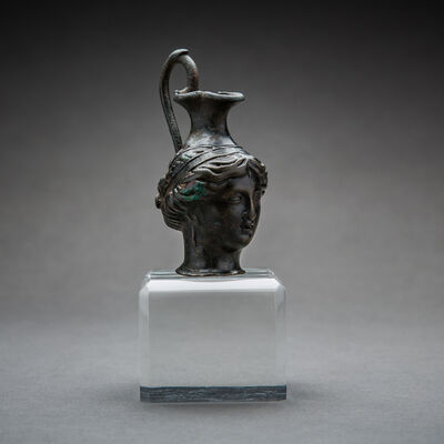 Unknown Greek, 'Hellenistic Bronze Vessel in the Shape of a Woman's Head', 300 BCE-100 BCE