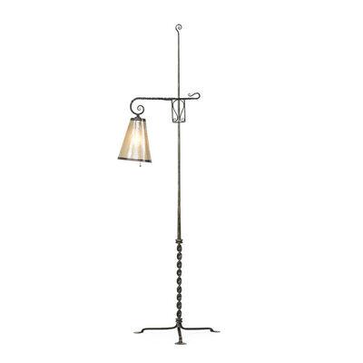 Samuel Yellin, 'Adjustable floor lamp, Philadelphia, PA'