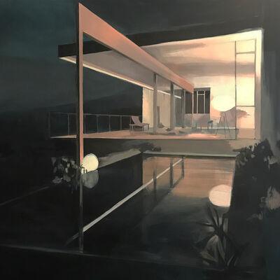 Bea Sarrias, 'La casa rosa al anochecer (the pink house at nightfall)', 2018