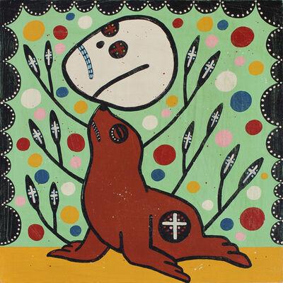 """Mike Egan, '""""Seal Balancing Skull""""', 2017"""