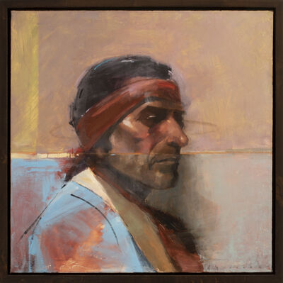 """Matthew Sievers, 'Chief Flat Iron (after Joseph Henry Sharp's painting titled """"Chief Flat Iron, Sioux"""")', 2021"""