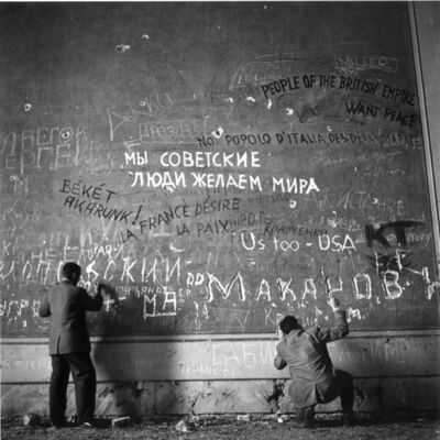 Slim Aarons, 'Chancellery Graffiti - Signed Photographs', 1945
