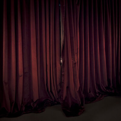 Cig Harvey, 'Red Curtains, Location, Maine', 2017