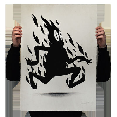 "Jeff Ladouceur, 'JEFF LADOUCEUR ""Flame On"" HPM Print Urban Art Contemporary Pop Fire', 2020"