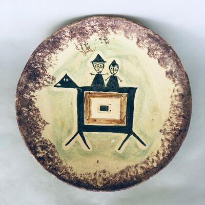 Beatrice Wood, 'Shallow Figurative Bowl', ca. 1970