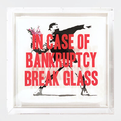Thirsty Bstrd, 'In Case of Bankruptcy - Flowers Thrower Pink (80 cm)', 2020