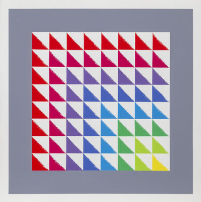 Herbert Bayer, 'Triangulated Square', ca. 1969