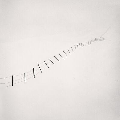 Michael Kenna, 'Hillside Fence, Study 4, Teshikaga, Hokkaido, Japan', 2002