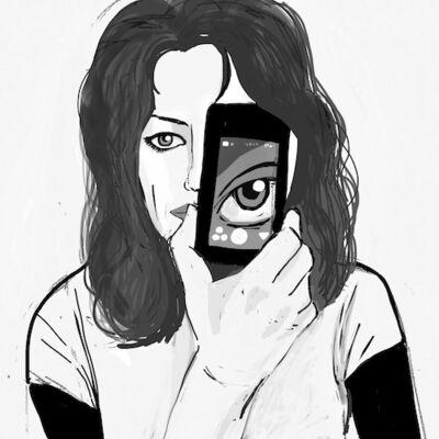 Carla Gannis, 'Selfie Drawing 01', 2015