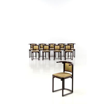 Josef Hoffmann, 'Set of ten chairs', near 1920