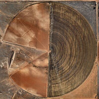 Edward Burtynsky, 'Pivot Irrigation #10, High Plains, Texas Panhandle, USA', 2011