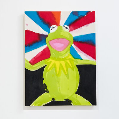 Liz Markus, 'Kermit with Red, White, and Blue Auras', 2021