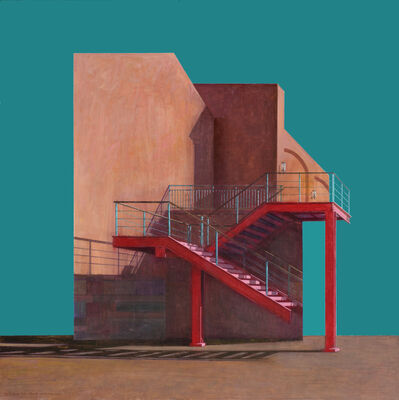 Han Unsung, 'Red Stairs', 2015