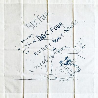 Tracey Emin, 'Everybody Needs a Place to Think (Limited Edition Vintage Promotional Handkerchief, VIP Invitation and Box) for British Broadcasting Company (BBC 4)', 2002