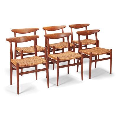 Hans Jørgensen Wegner, 'Set of six dining chairs', 1953