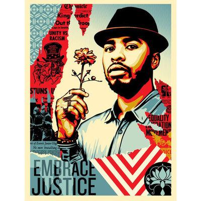 Shepard Fairey, 'Embrace Justice', 2017