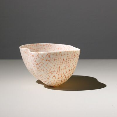 Mieke Everaet, 'DOUBLE PORCELAIN BOWL, ORANGE & WHITE ', 2019