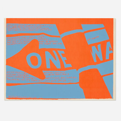 Corita Kent, 'One Way', 1967