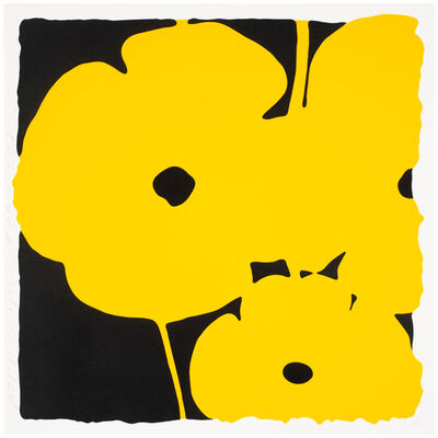 Donald Sultan, 'Big Poppies-Yellow', 2014
