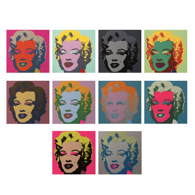 After Andy Warhol, 'Marilyn Monroe (complete set)', 2018