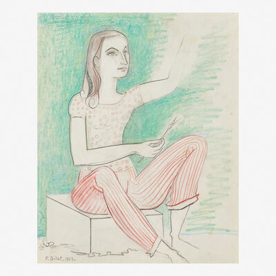 Françoise Gilot, 'Untitled (Self Portrait)', 1953