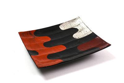 Tohru Matsuzaki, 'Silver and vermilion lacquer ridged tray', 2017